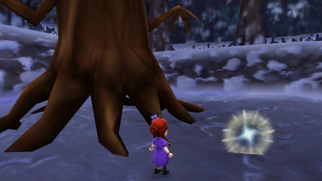 まよいの森の木から飛び出したキラキラ