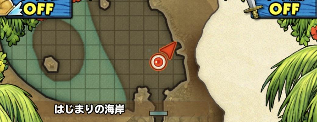 スライムツリーの出現場所のマップ