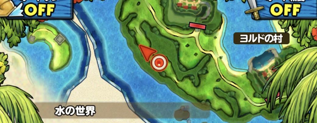 ドルイドの出現場所のマップ