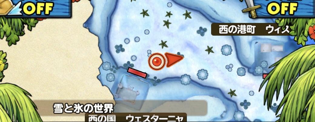 ハートナイトの出現場所のマップ