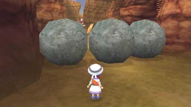 フィールドにある大きな岩